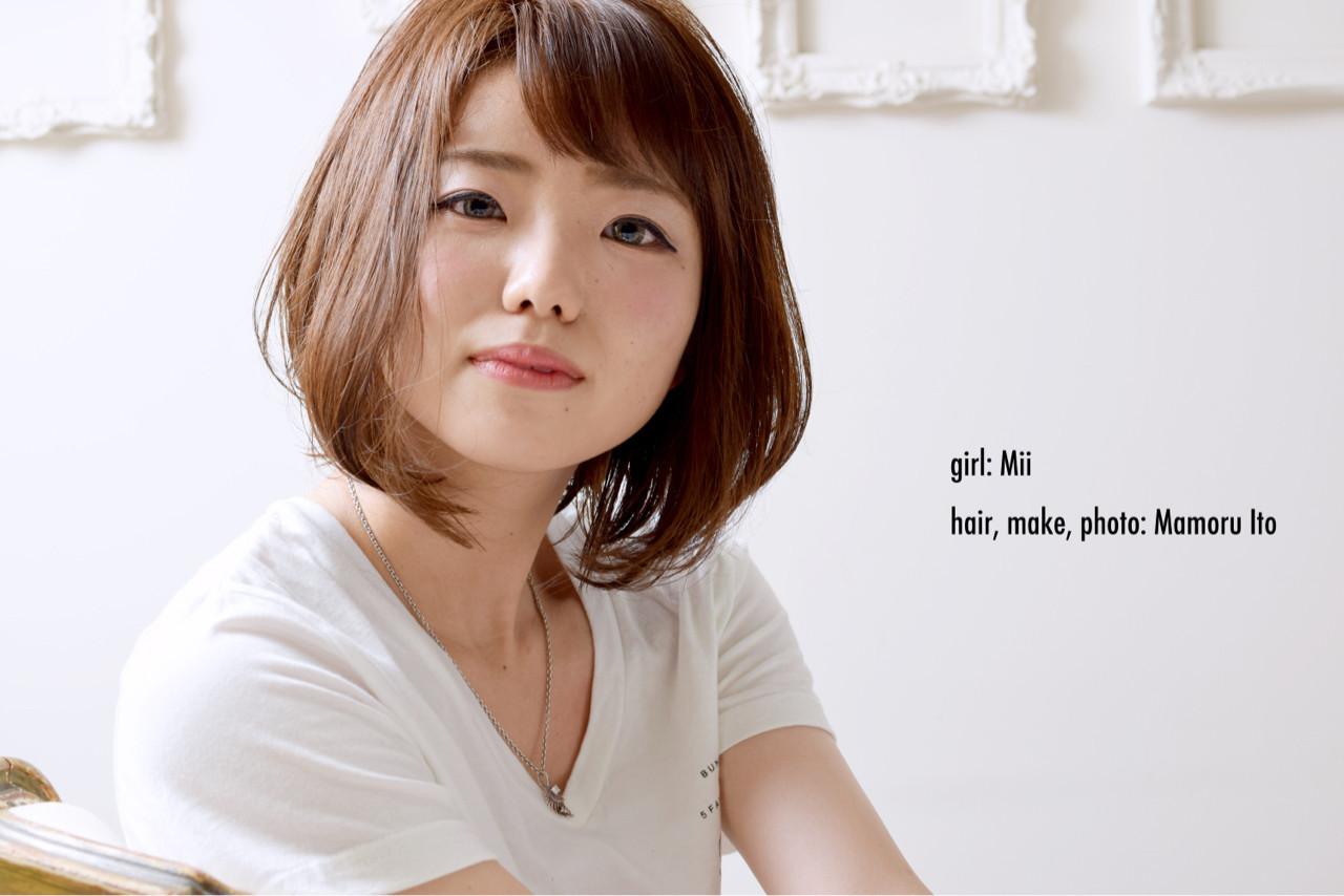明るめのショートバングなら明るい大人の女性に♪ Mamoru Ito | hair design space i.chi.e