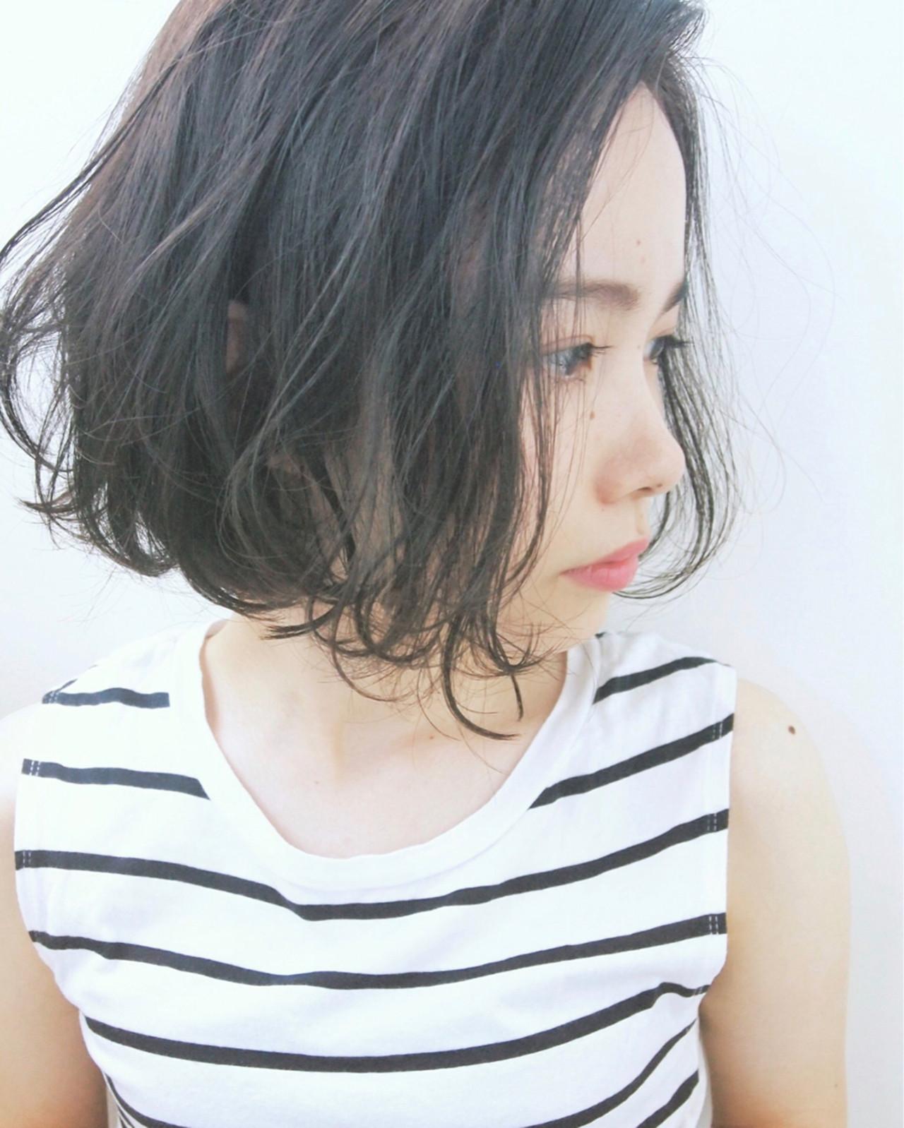 内巻き外巻きミックスカールボブ UEKI/nanuk