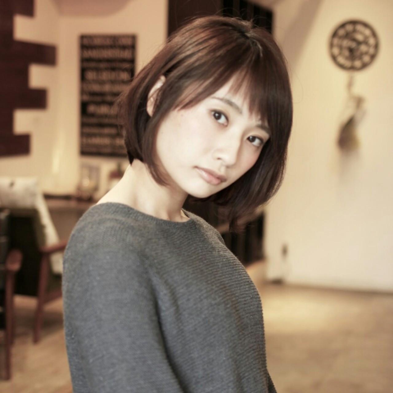 大人女性にピッタリ♡王道前下がりボブ Yuka Nishida