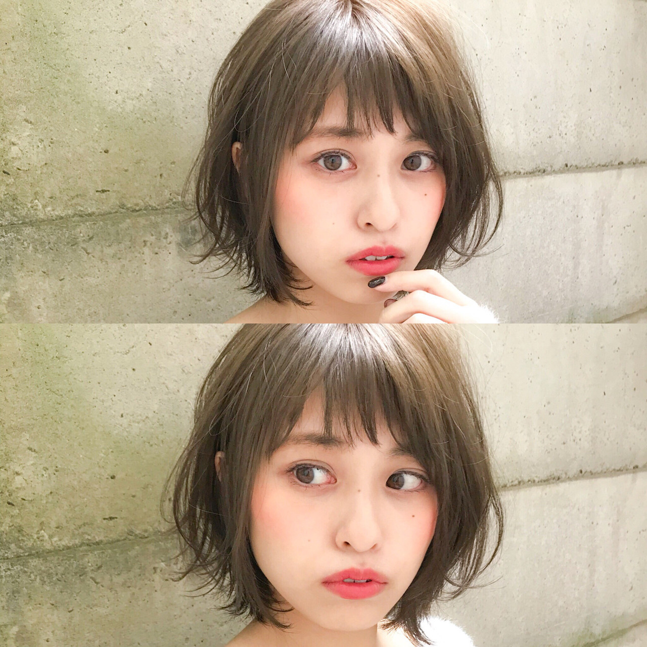 大人フェミニン♡シースルージグザグバング 阿部展大/THEATER表参道