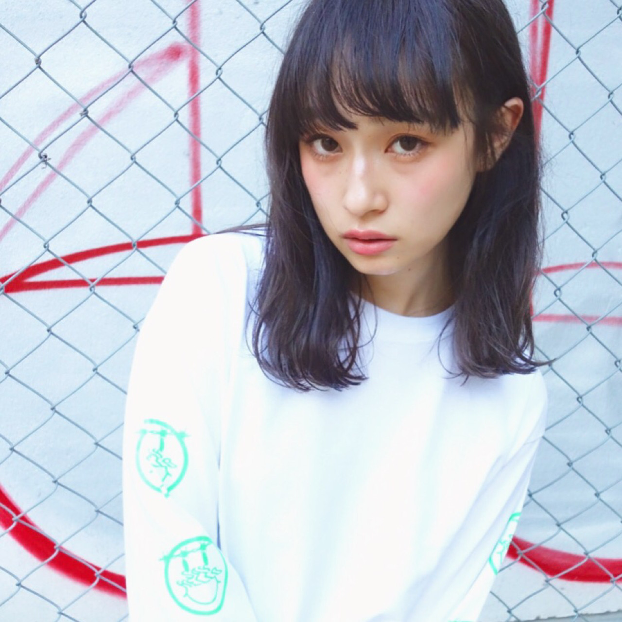 黒髪×ぱっつん前髪で可愛らしく♡ 土谷 庄之介 | a mark
