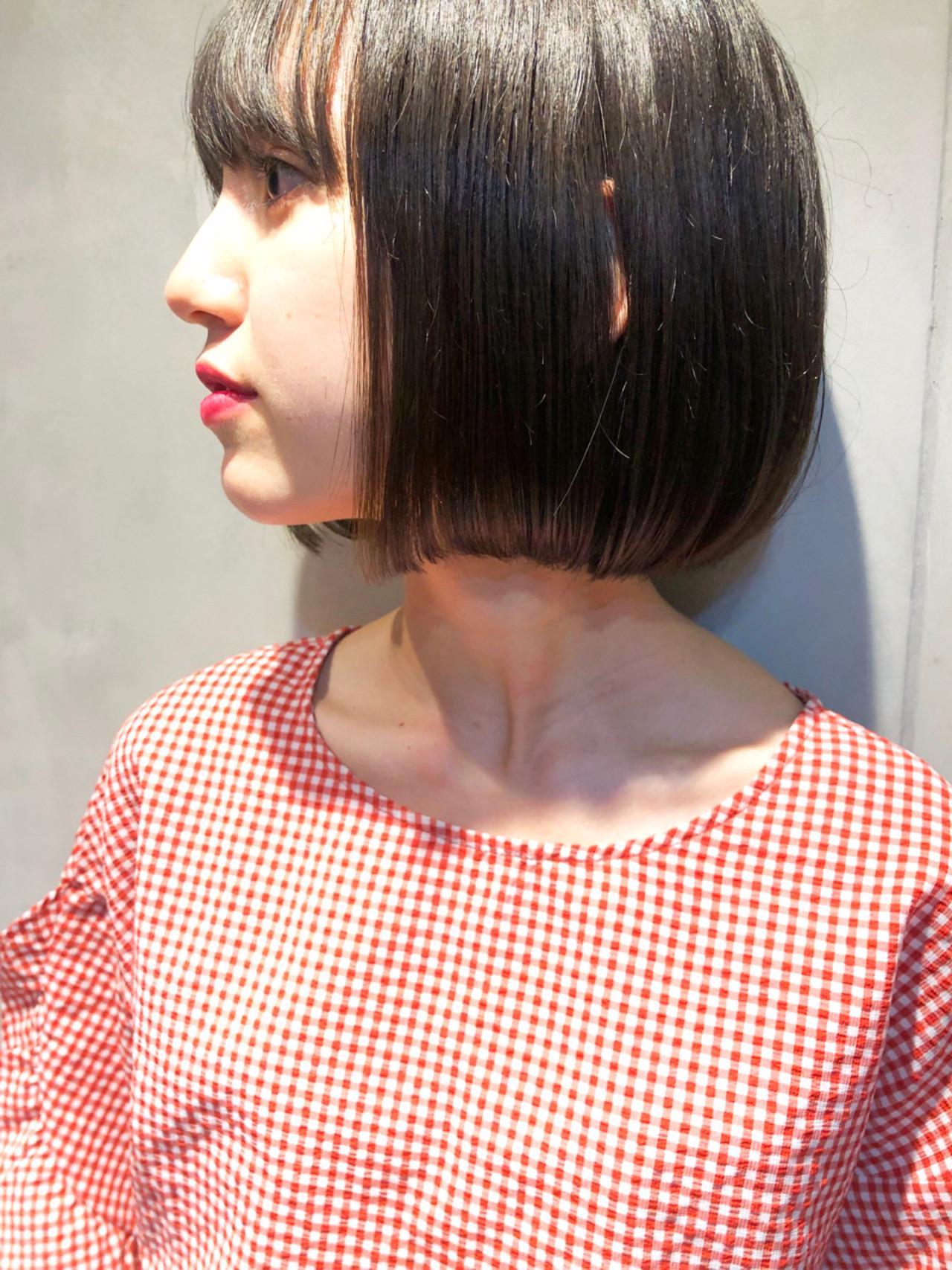 色気 ボブ 前髪あり 女子力 ヘアスタイルや髪型の写真・画像
