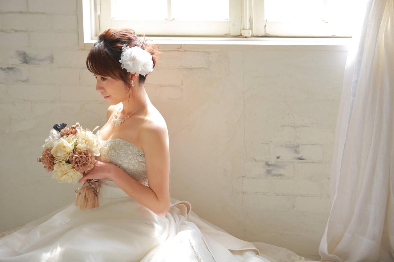 ブライダル 結婚式 花嫁 ヘアアレンジ ヘアスタイルや髪型の写真・画像