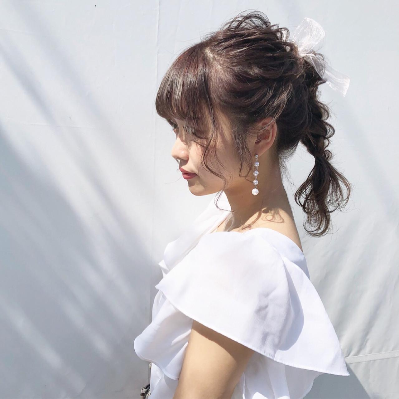 超かわいい♡ゆるっと三つ編みまとめ髪☆ hii.de@✂︎