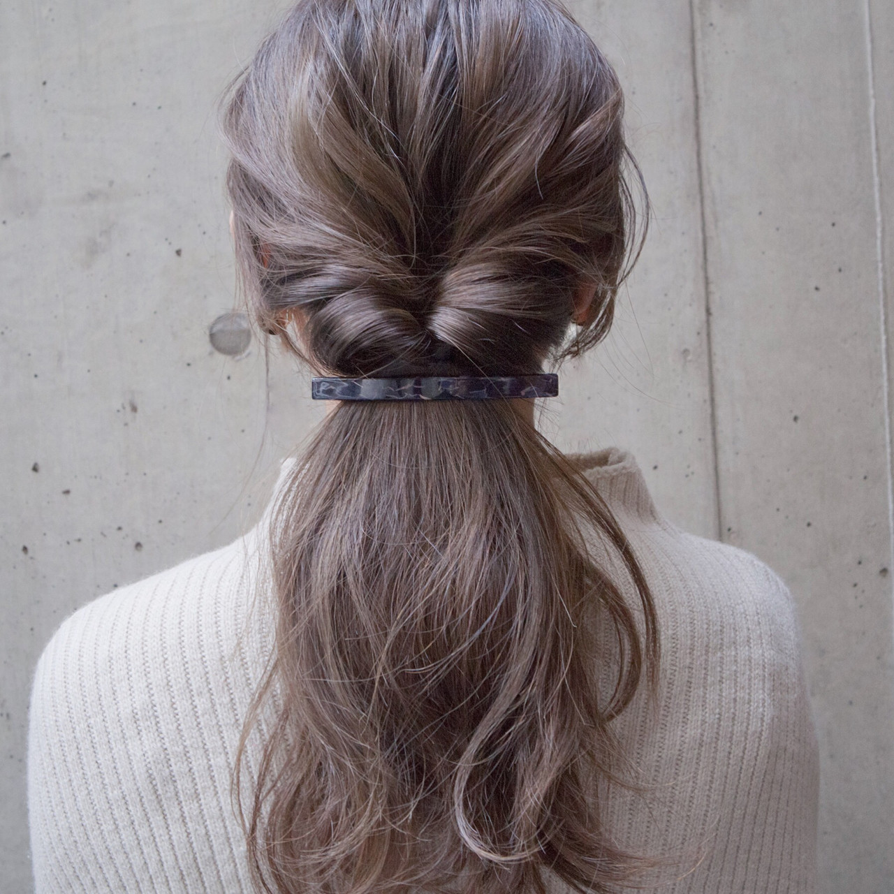 ショート ヘアアレンジ くるりんぱ ナチュラル ヘアスタイルや髪型の写真・画像