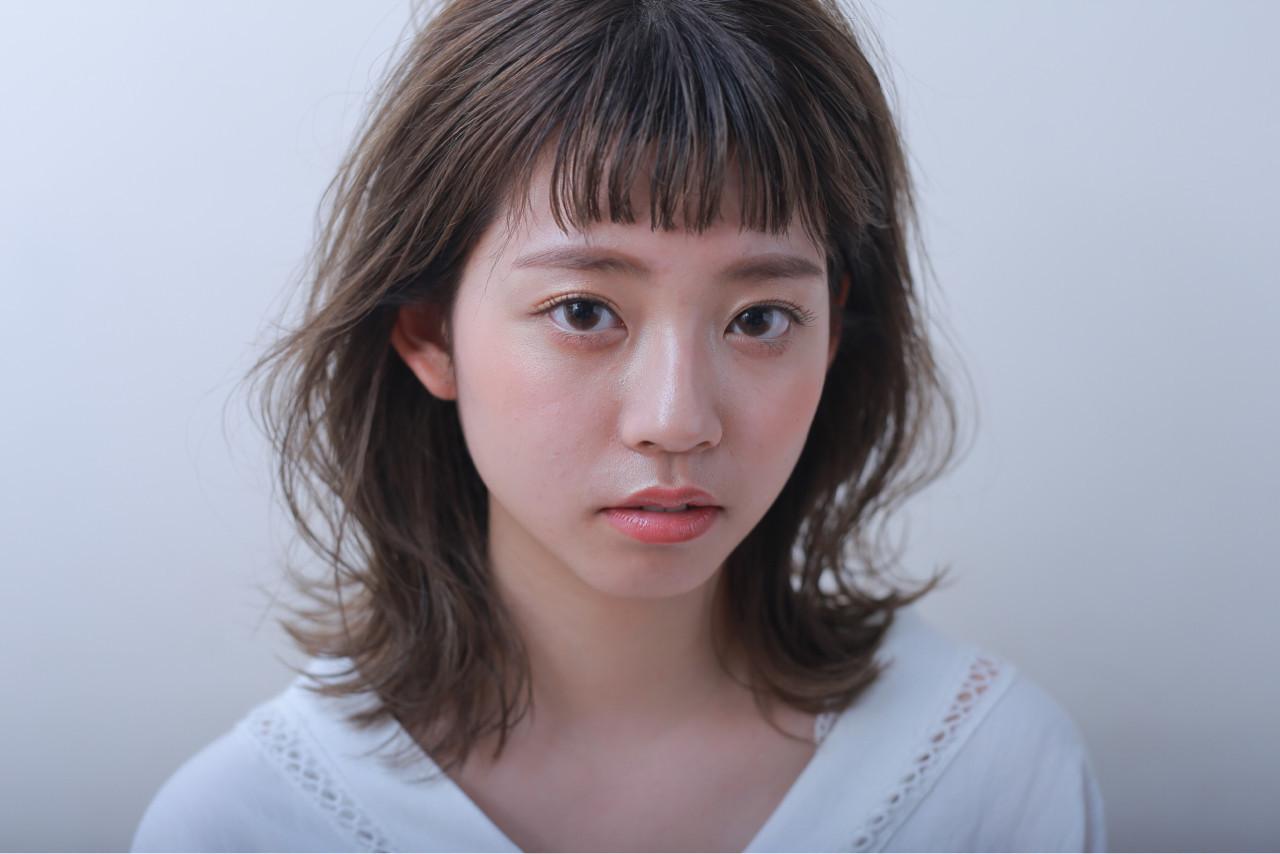 ゆるふわ 女子力 ミディアム ナチュラル ヘアスタイルや髪型の写真・画像