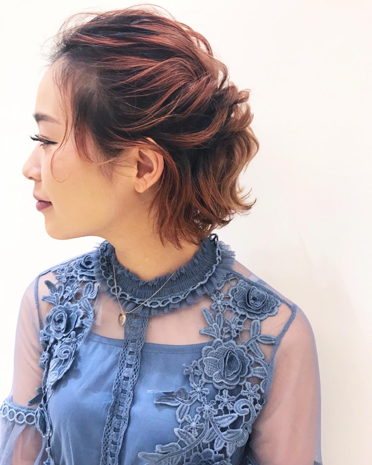 ヘアアレンジ 簡単ヘアアレンジ 上品 エレガント ヘアスタイルや髪型の写真・画像