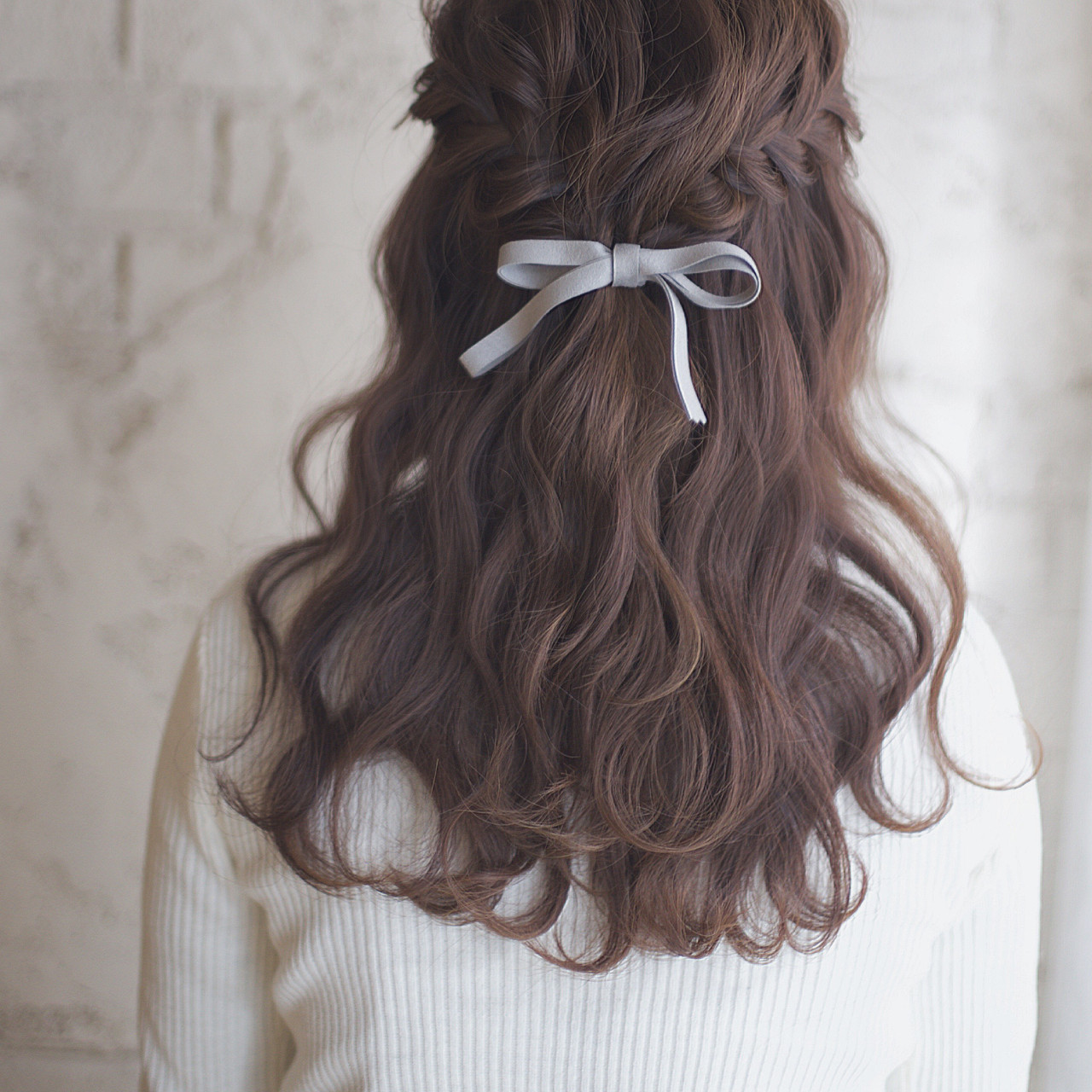 ヘアアレンジ 簡単ヘアアレンジ セミロング アッシュ ヘアスタイルや髪型の写真・画像