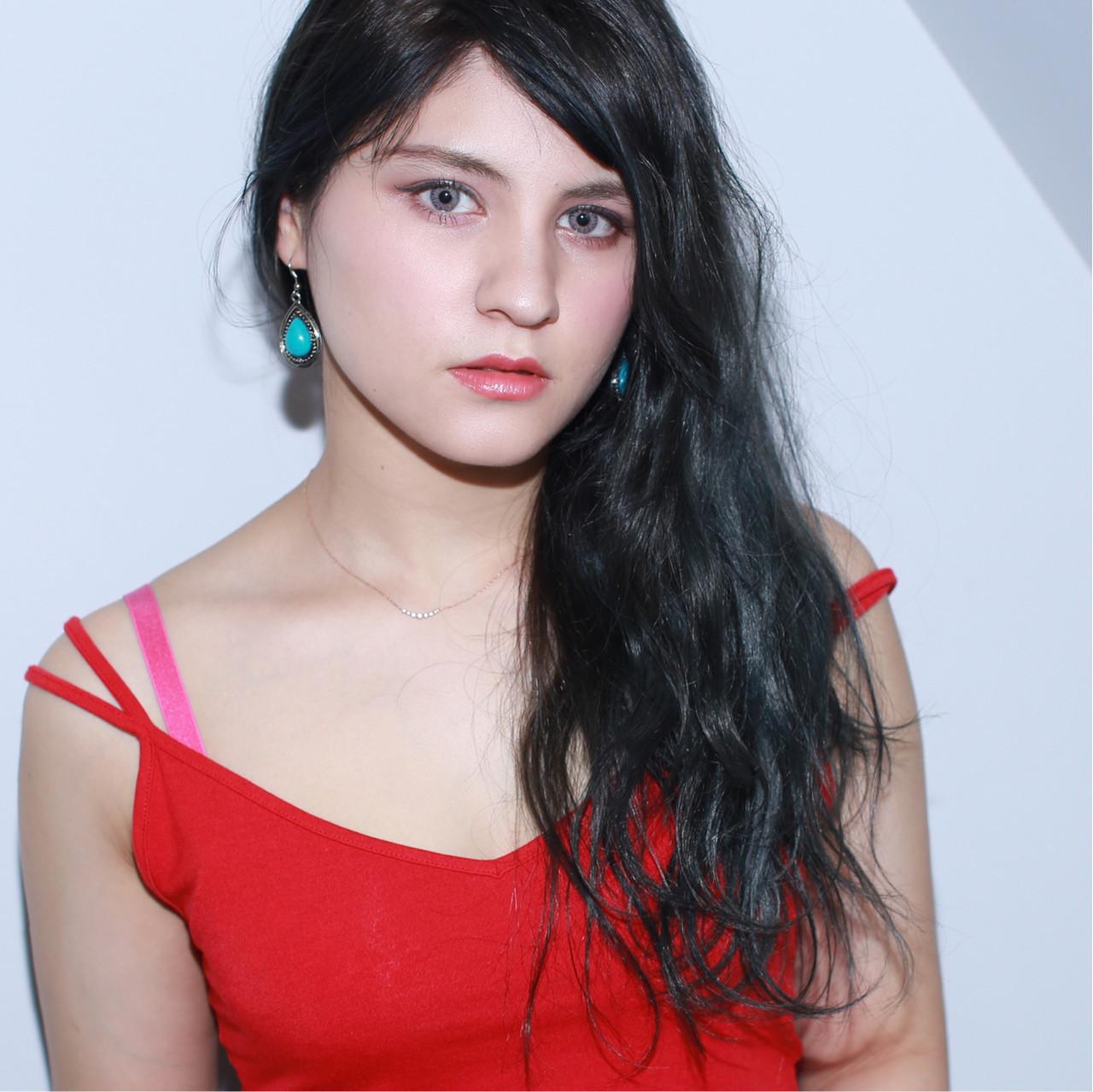 外国人風 デート ロング エレガント ヘアスタイルや髪型の写真・画像