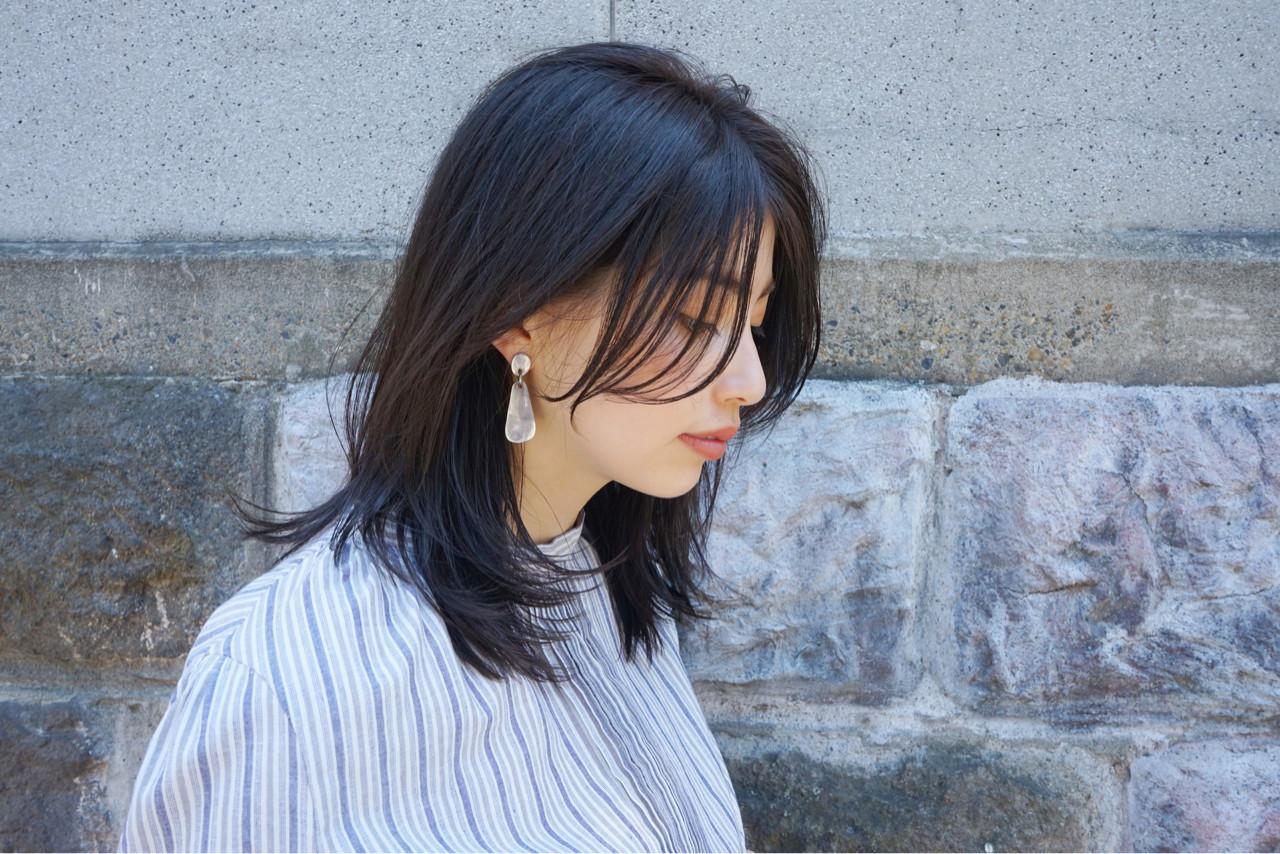 レイヤーカット 女子力 エフォートレス 外ハネ ヘアスタイルや髪型の写真・画像