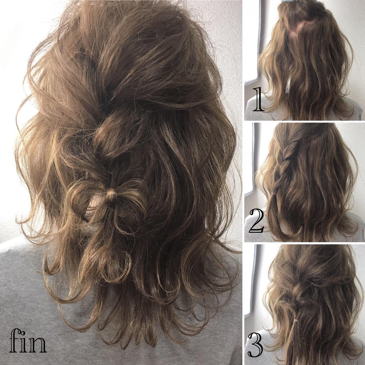 上品 ミディアム 結婚式 ヘアアレンジ ヘアスタイルや髪型の写真・画像