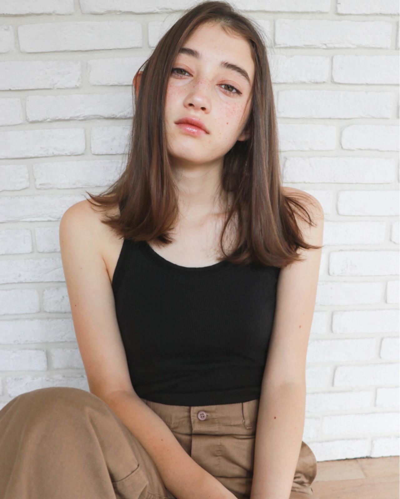 ミディアム ハンサム 女子会 かっこいい ヘアスタイルや髪型の写真・画像
