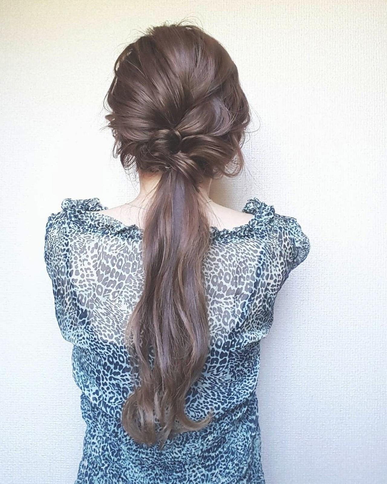 美しい髪をそのままに!ストレートヘアはポニーテールで iara.aya