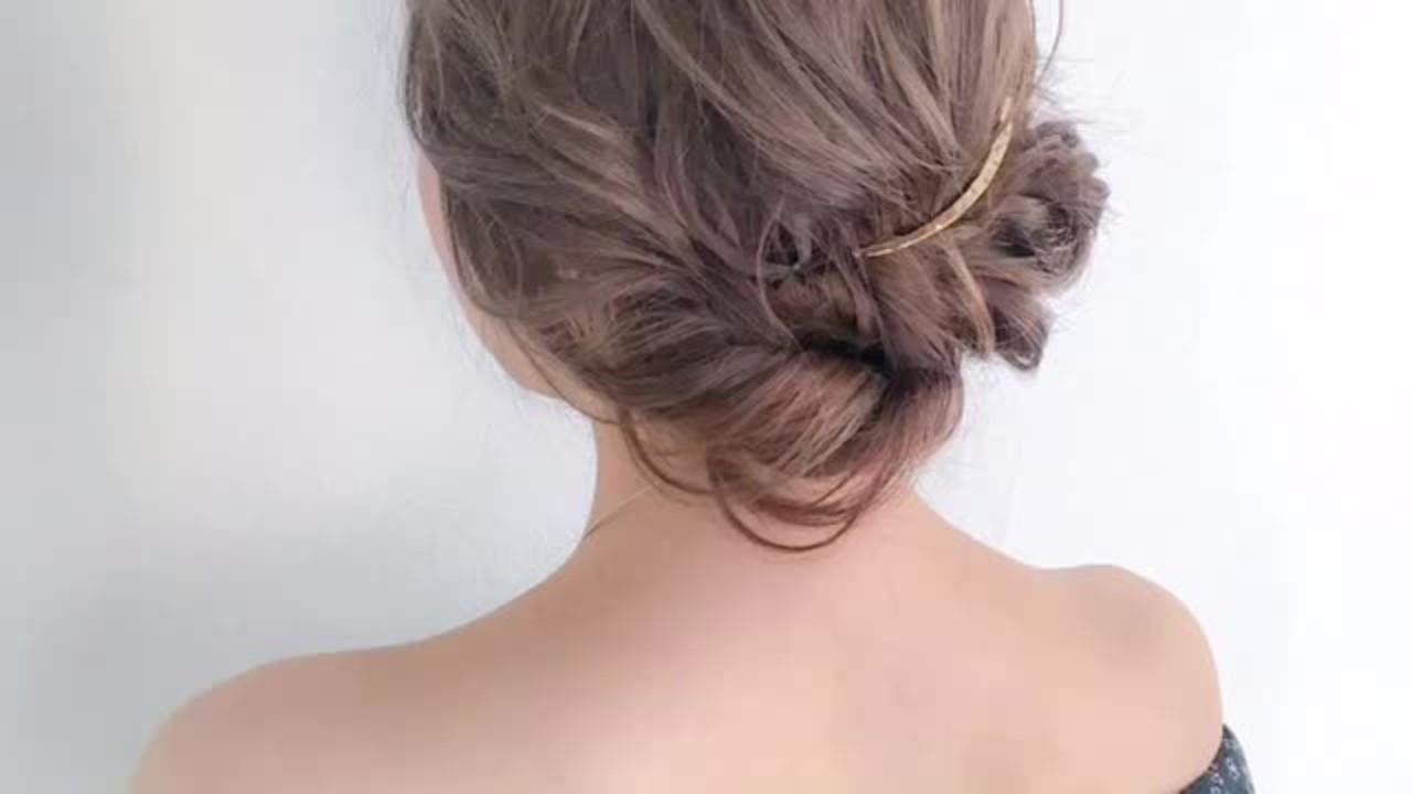 可愛い  ふんわり まとめ髪 ヘアスタイルや髪型の写真・画像
