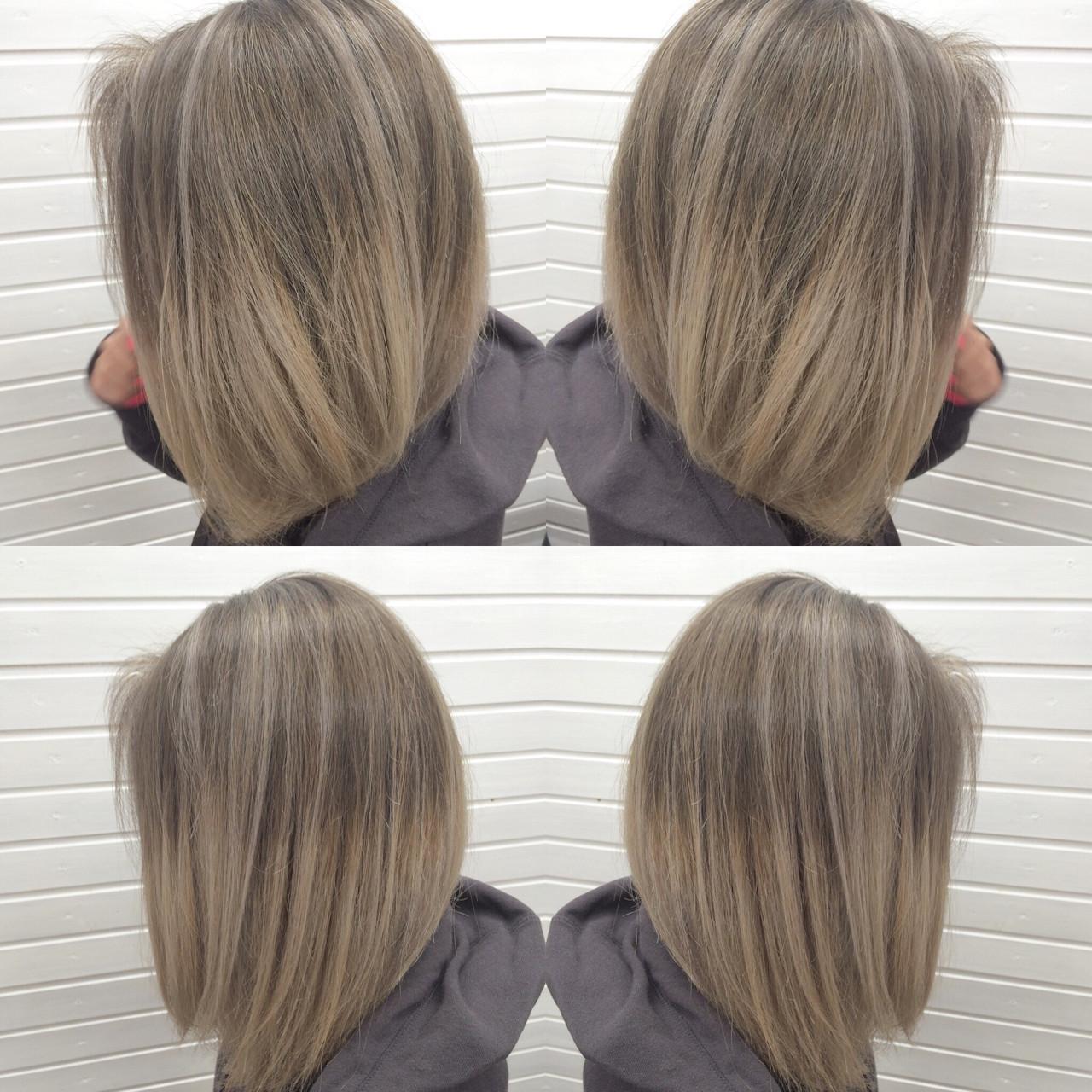 ストリート グラデーションカラー イルミナカラー ボブ ヘアスタイルや髪型の写真・画像