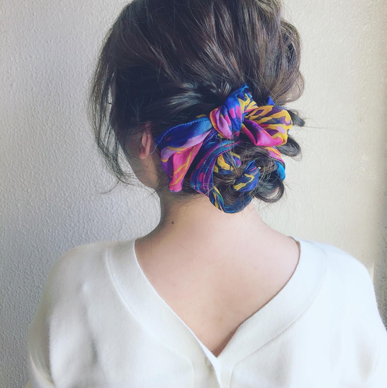 ヘアアレンジ 簡単ヘアアレンジ 波ウェーブ ヘアアクセ ヘアスタイルや髪型の写真・画像