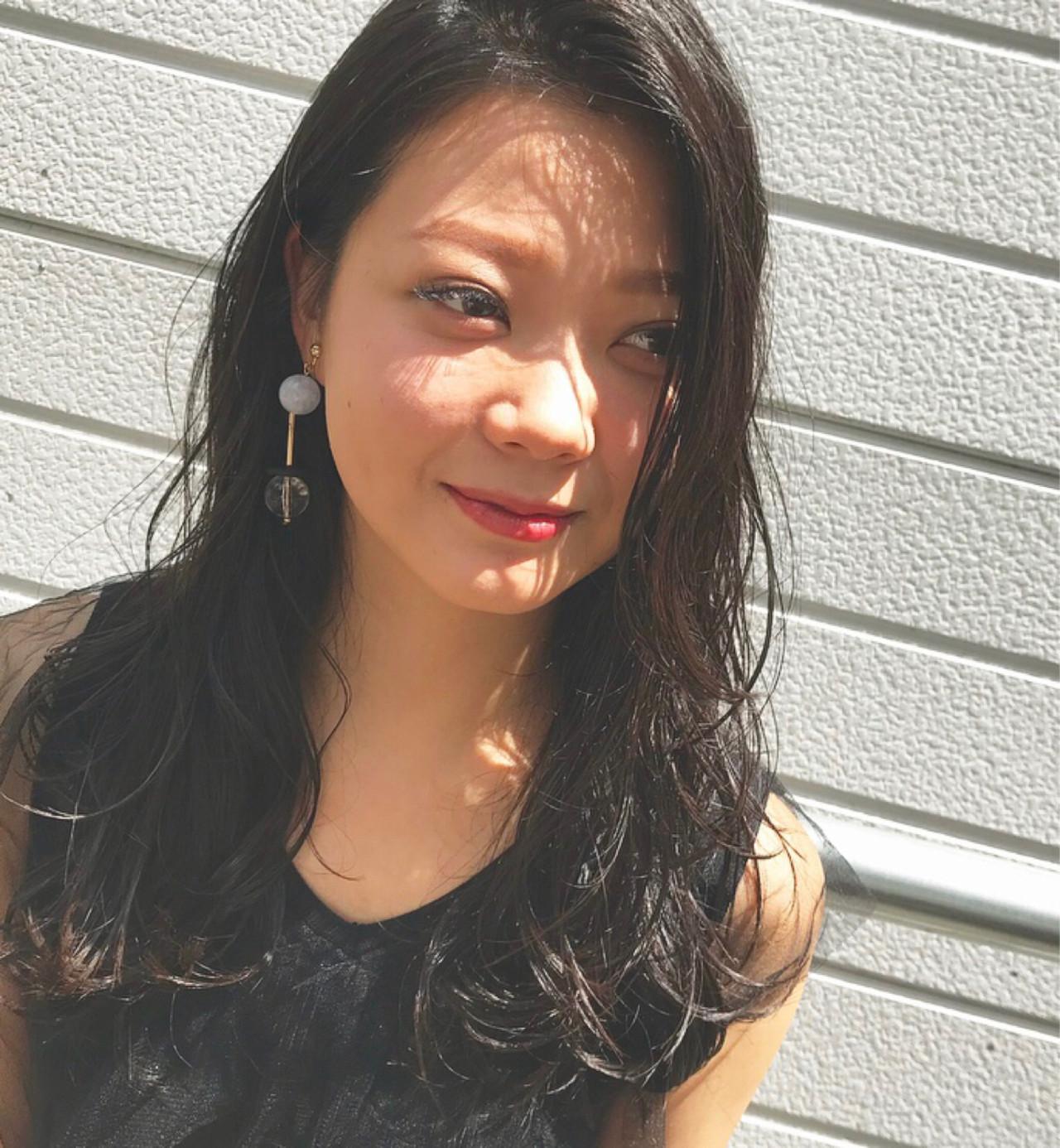 エレガント ロング 上品 オフィス ヘアスタイルや髪型の写真・画像