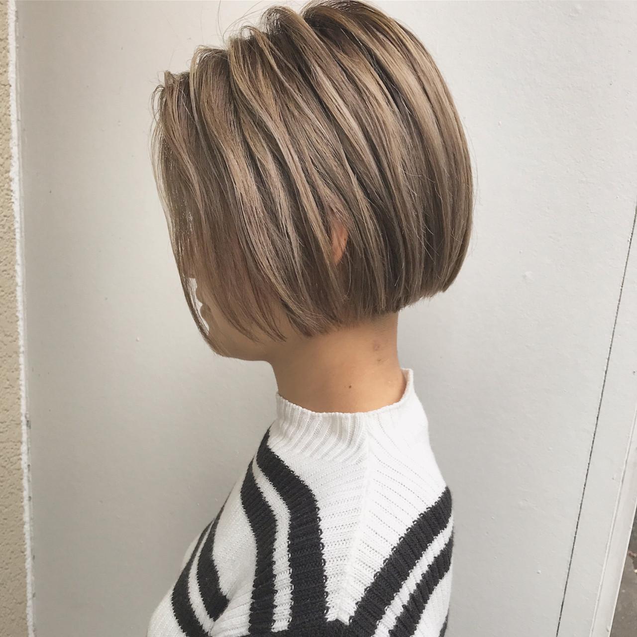 かっこいい 外国人風 モード ハイライト ヘアスタイルや髪型の写真・画像