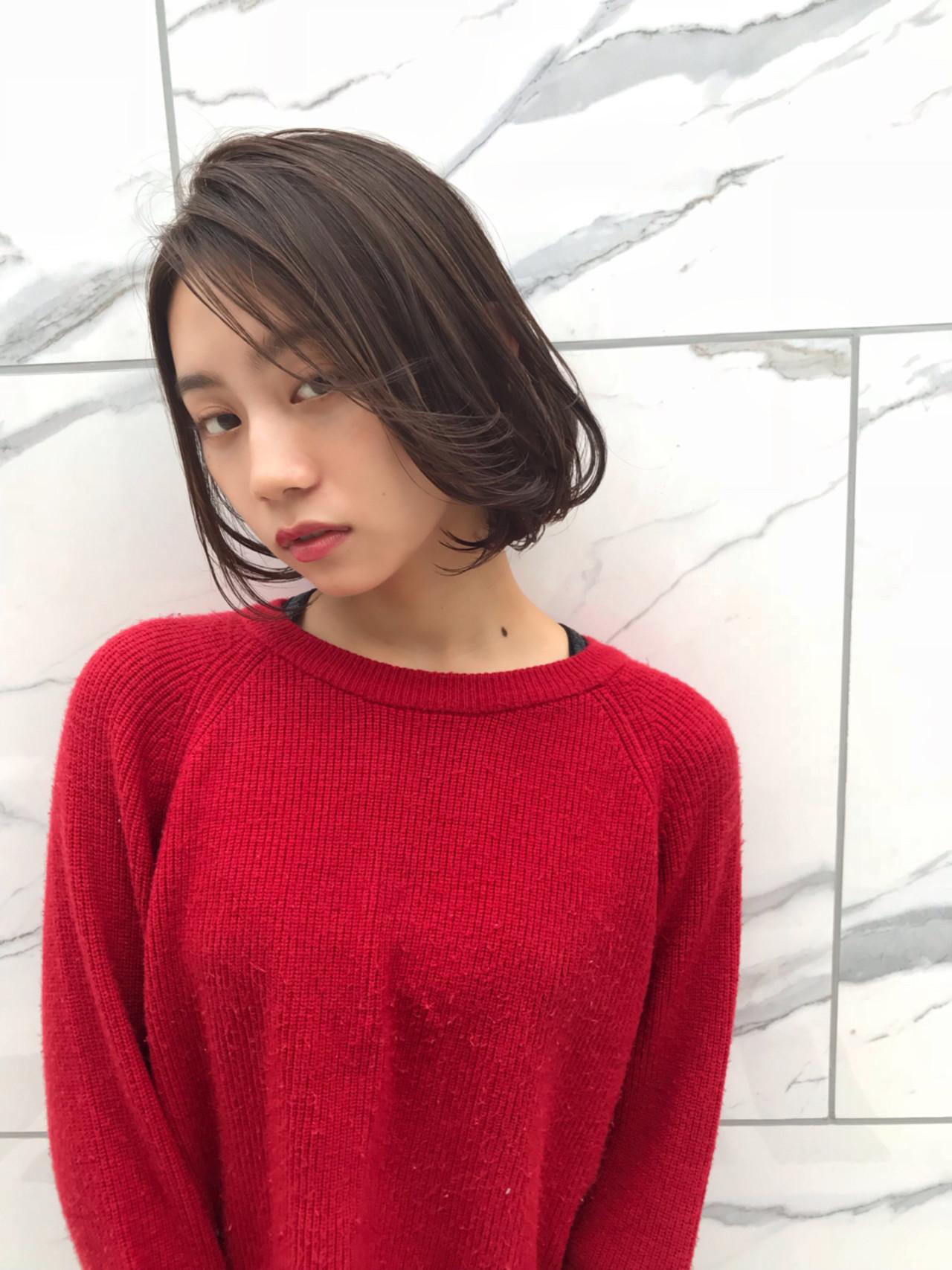 小顔 冬 女子力 秋 ヘアスタイルや髪型の写真・画像