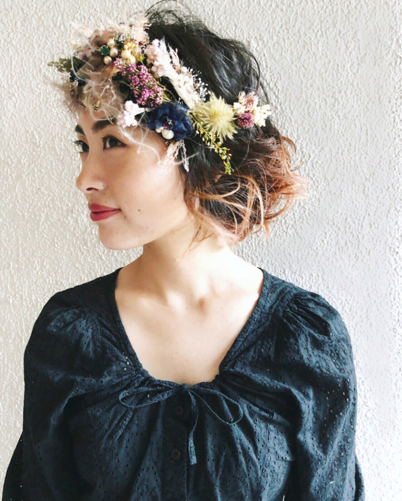 ガーリーで華やかな髪型 tomoya tamada  Bridal hairmake