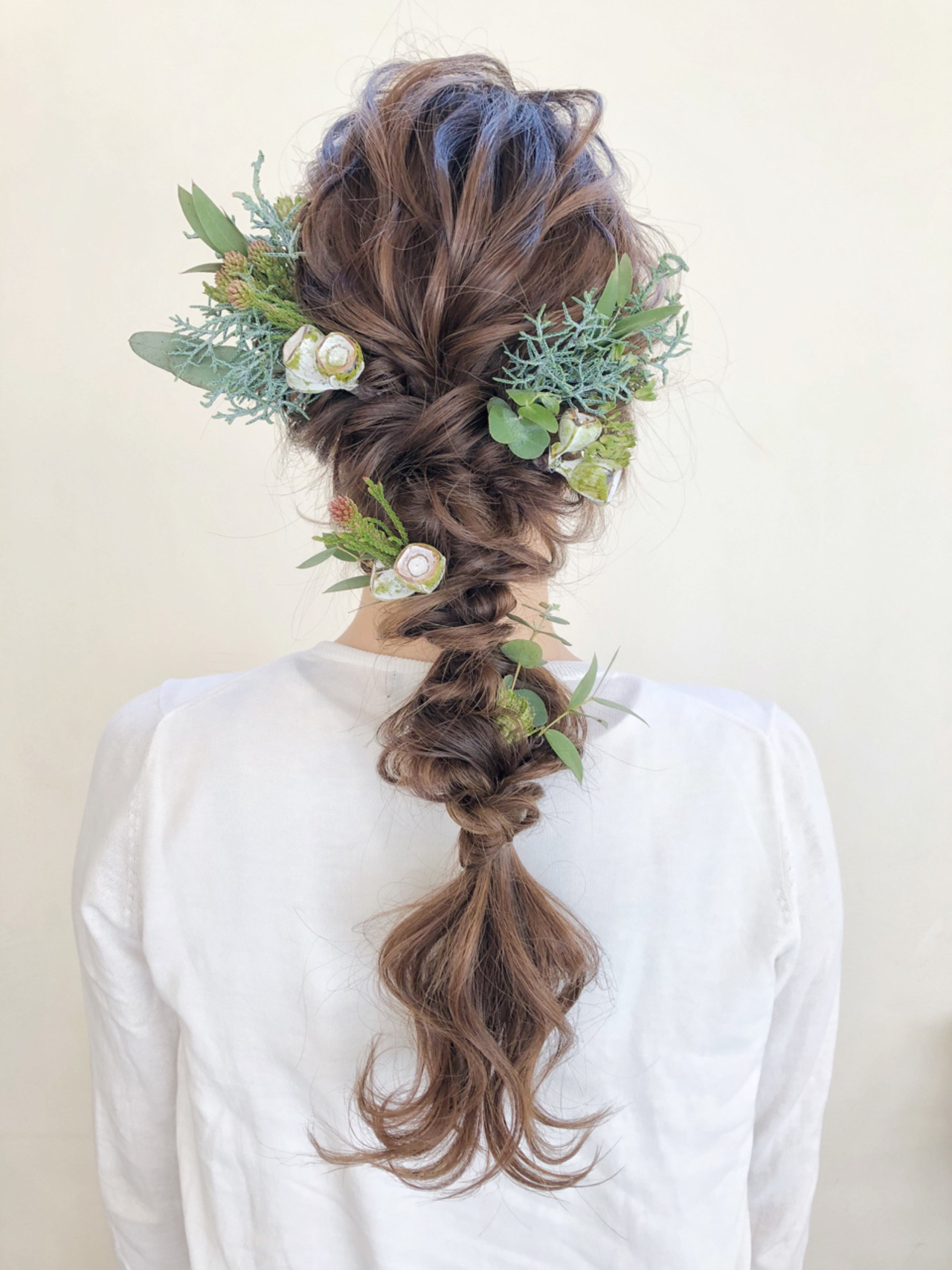 ナチュラルな編みおろしの髪型 サワ  Seamu