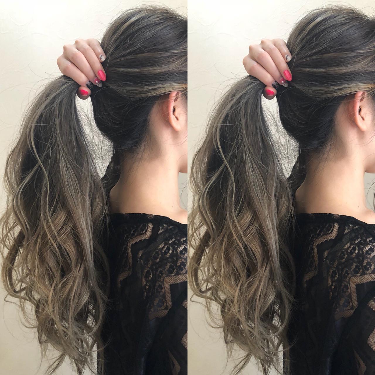 ヘアアレンジ 抜け感 カール ロング ヘアスタイルや髪型の写真・画像