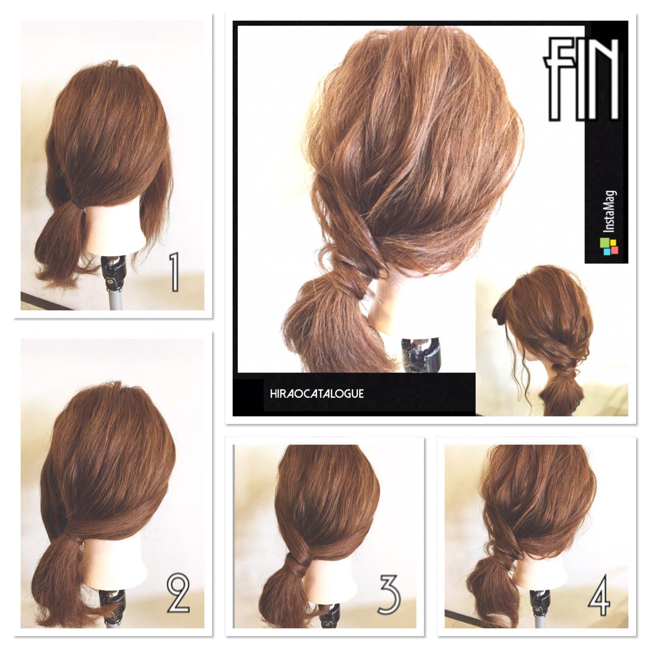 大人かわいい セミロング ゆるふわ 簡単ヘアアレンジ ヘアスタイルや髪型の写真・画像