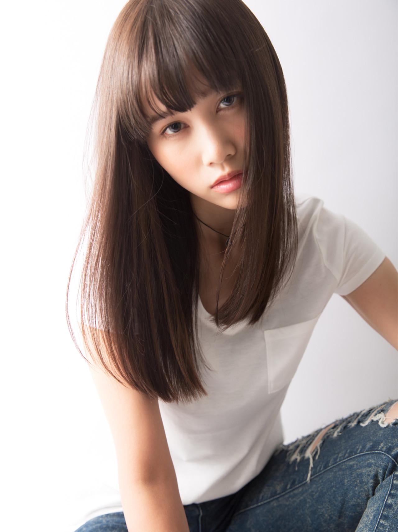 色気 ロング かっこいい 艶髪 ヘアスタイルや髪型の写真・画像