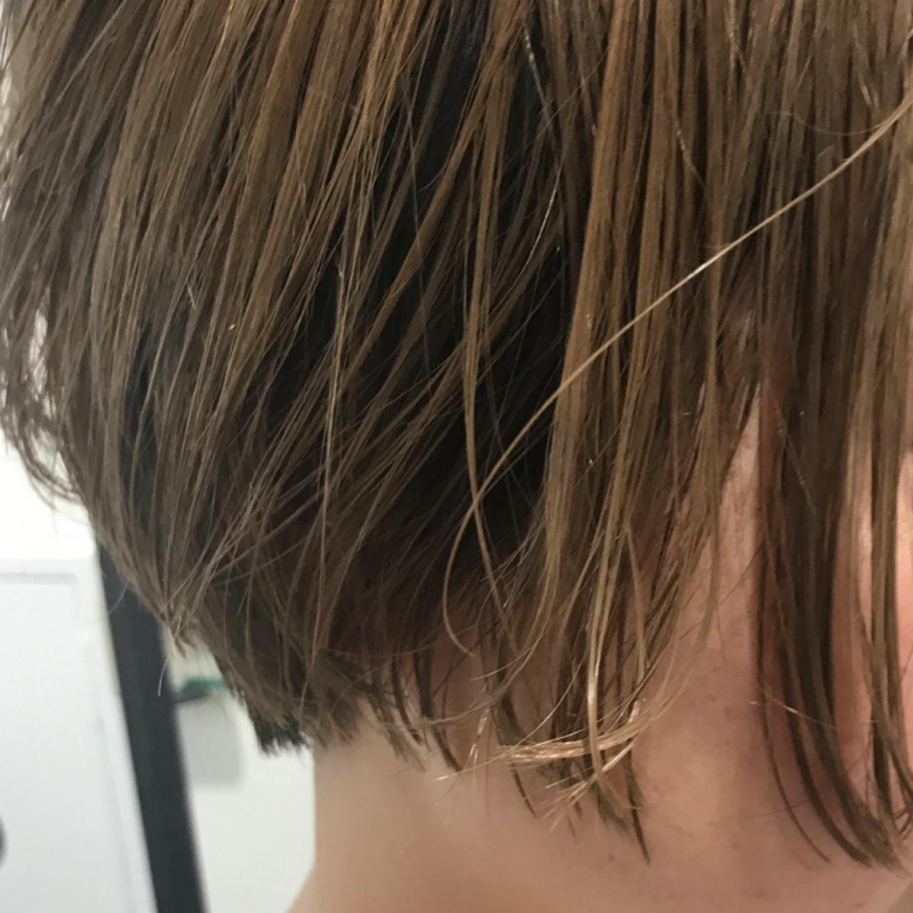 ブリーチ ボブ 夏 おかっぱ ヘアスタイルや髪型の写真・画像