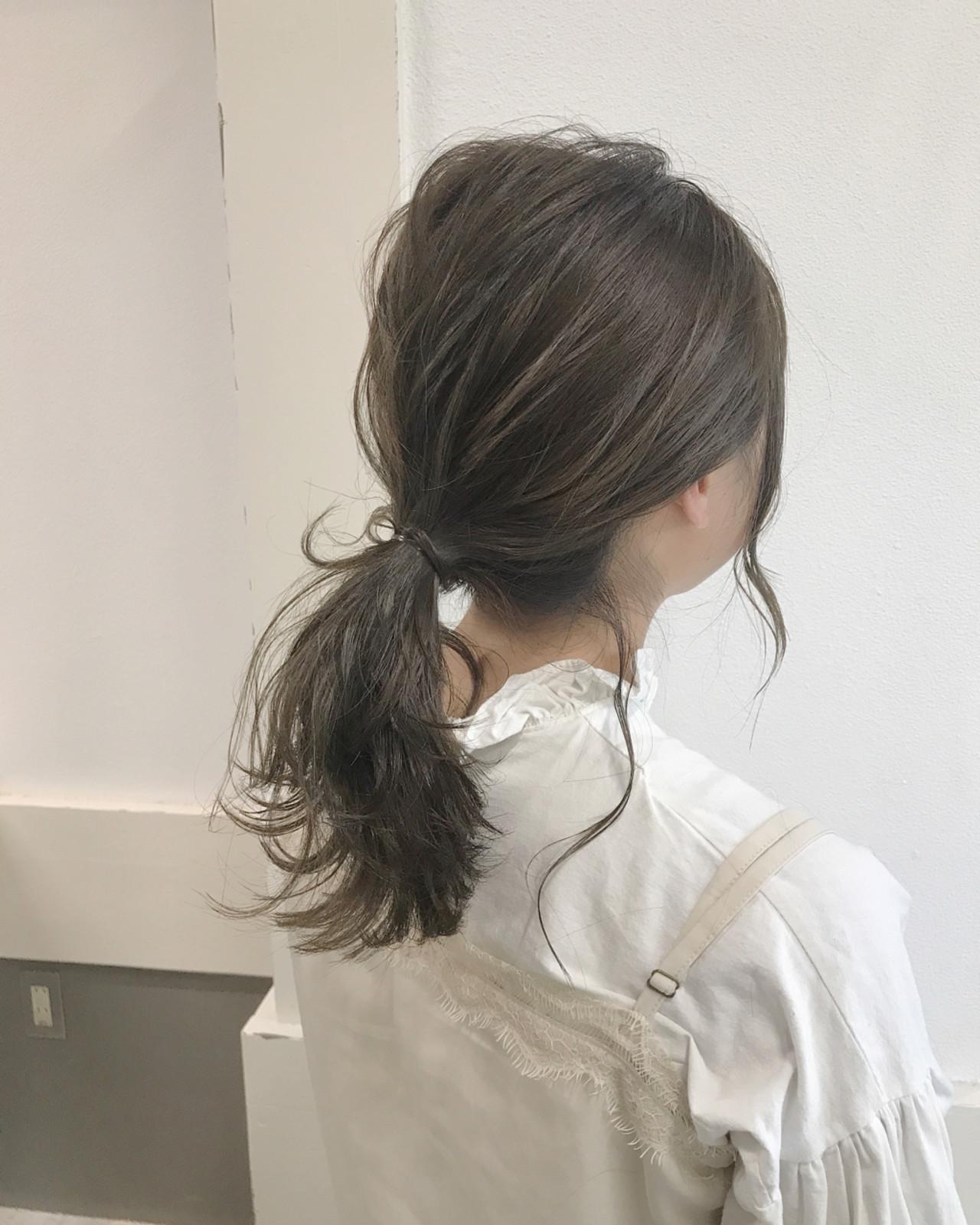 ヘアアレンジ オフィス アウトドア ナチュラル ヘアスタイルや髪型の写真・画像