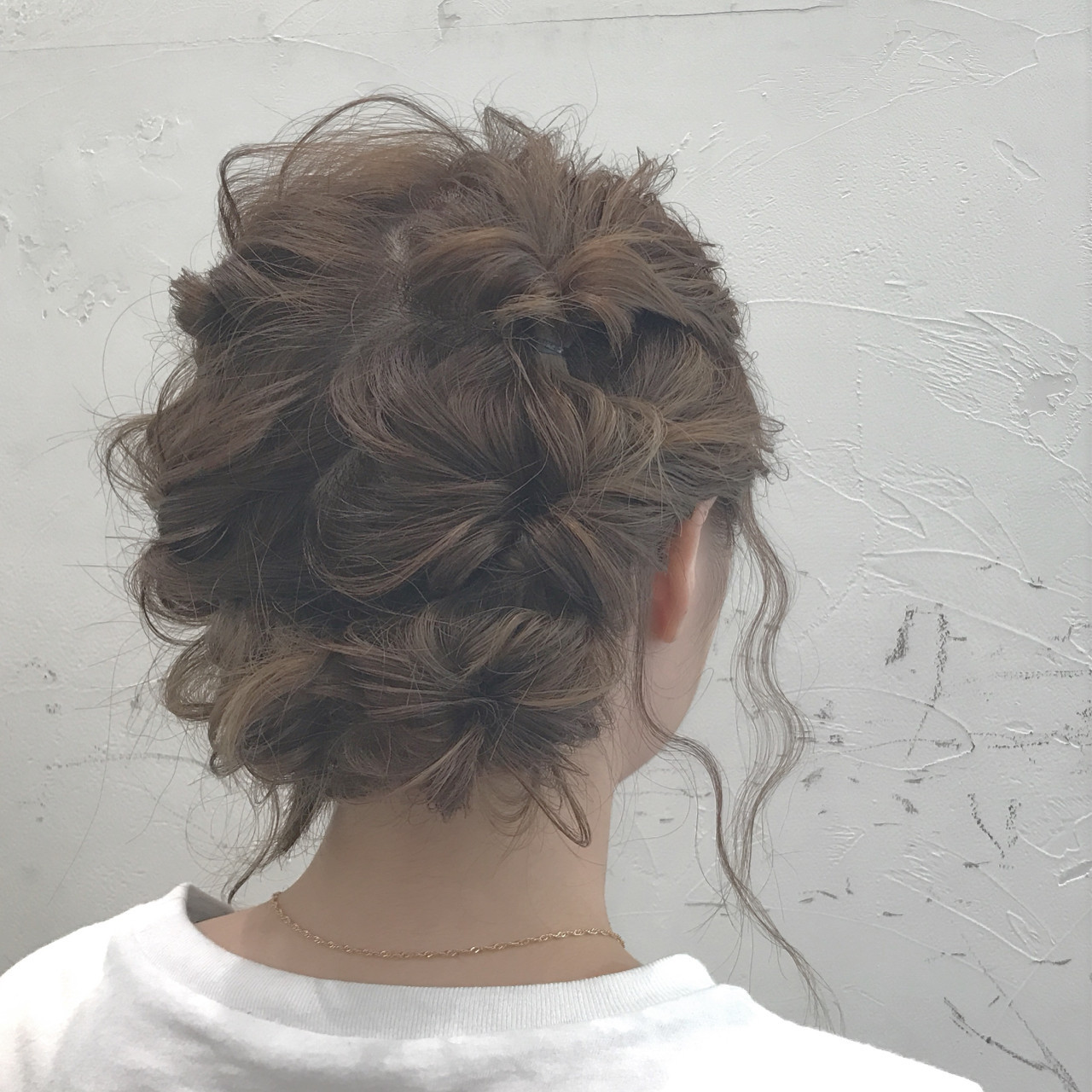 二次会 結婚式 くるりんぱ セミロング ヘアスタイルや髪型の写真・画像