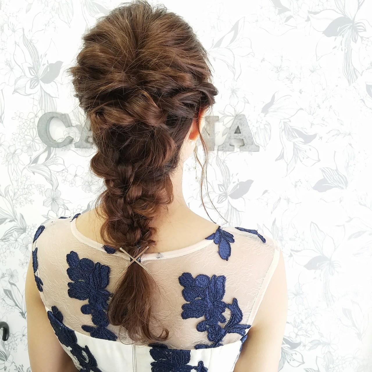 ショート ヘアアレンジ くるりんぱ セミロング ヘアスタイルや髪型の写真・画像