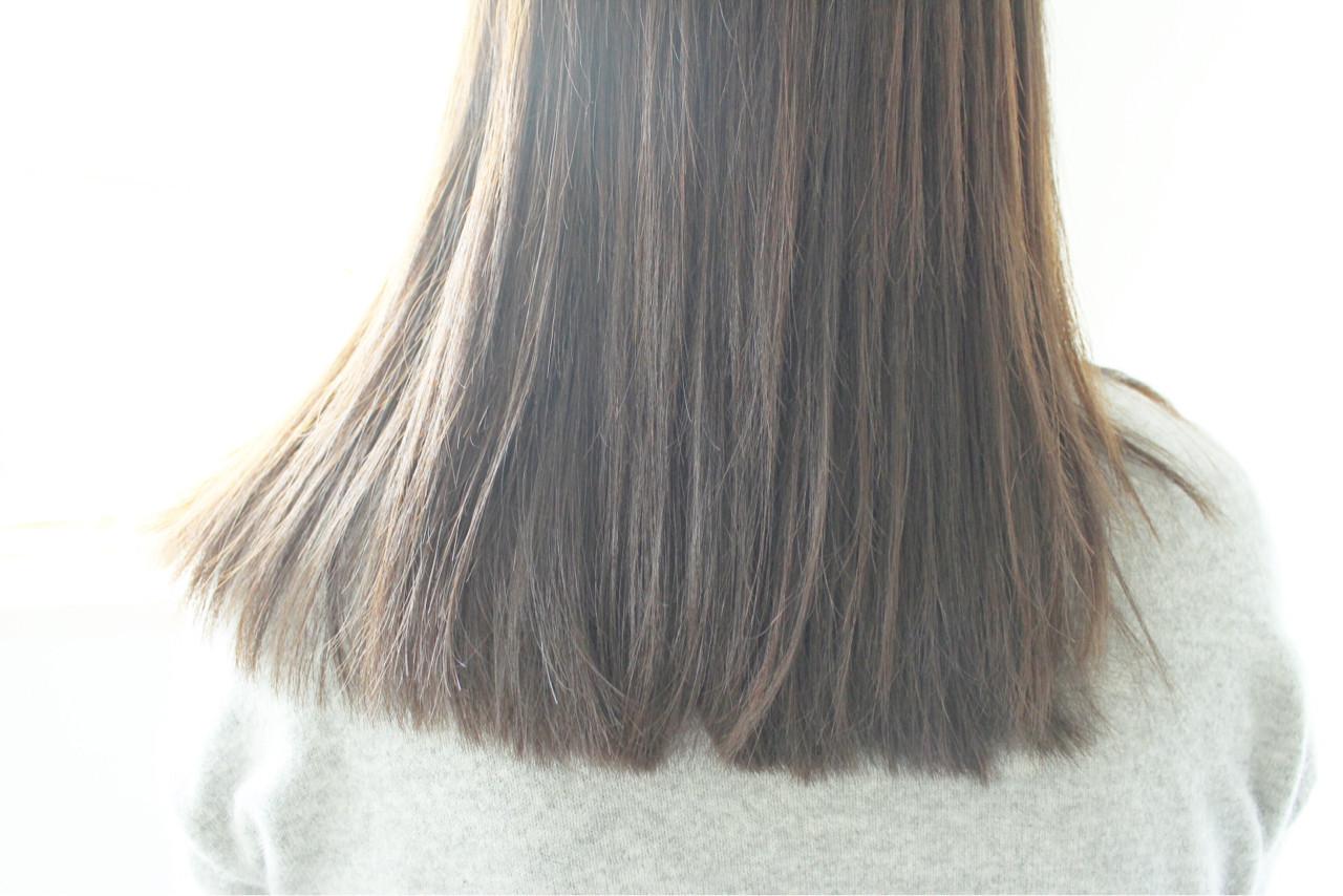 ベージュ 大人女子 アッシュ ナチュラル ヘアスタイルや髪型の写真・画像