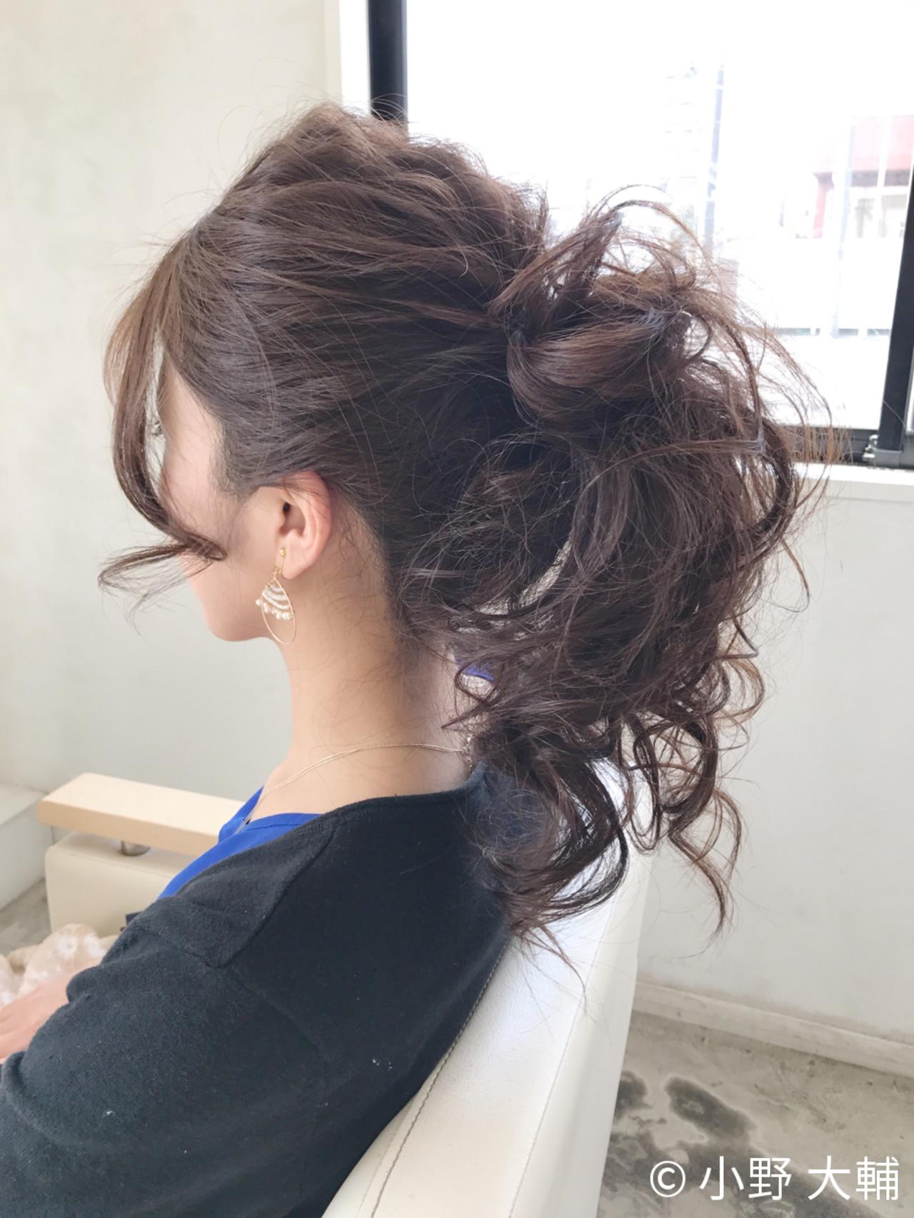 涼しげ ヘアアレンジ ポニーテール 結婚式 ヘアスタイルや髪型の写真・画像