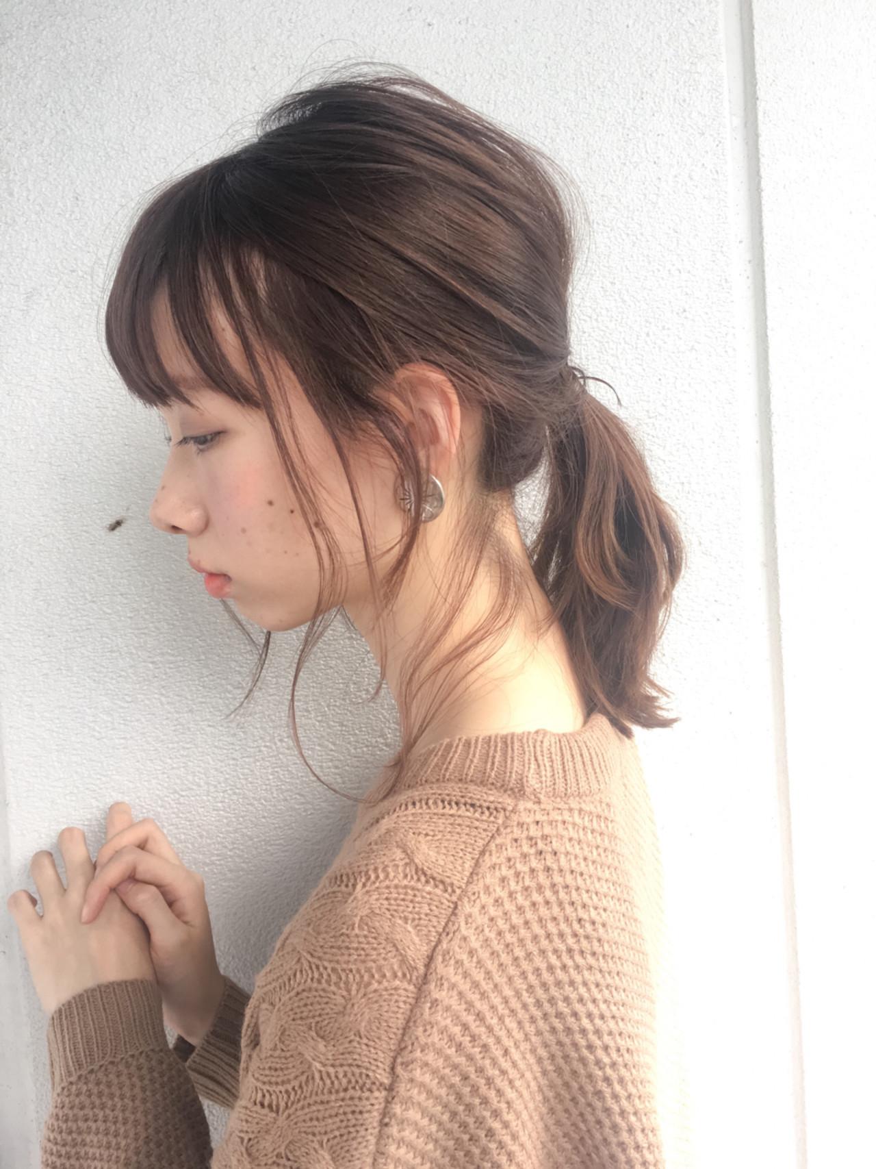 簡単ヘアアレンジ 大人女子 ガーリー ショート ヘアスタイルや髪型の写真・画像