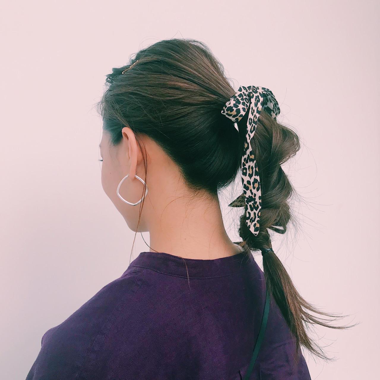 ヘアアレンジ くるりんぱ 簡単ヘアアレンジ ロング ヘアスタイルや髪型の写真・画像