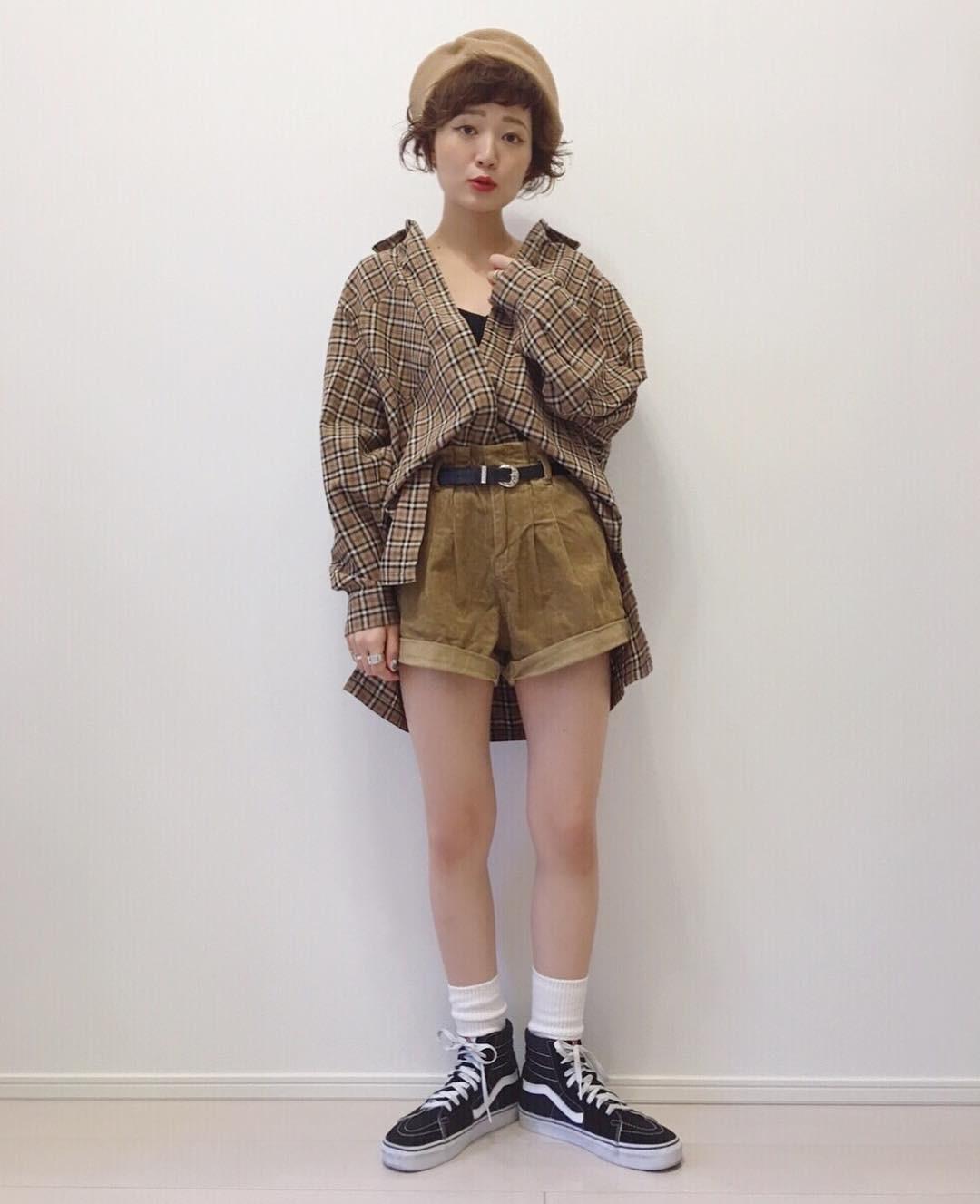 ボリュームシャツで華奢見えコーデ yukichi_yuki