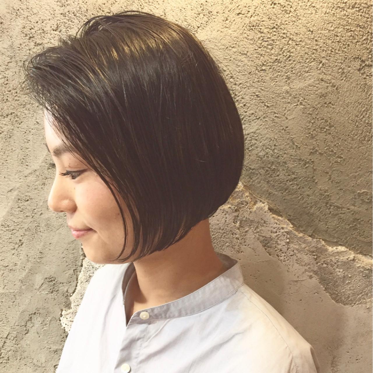 切りっぱなし前下がりボブで絶妙なニュアンス♡ 北崎麻美/LUKE福岡⇄dakotaracy東京
