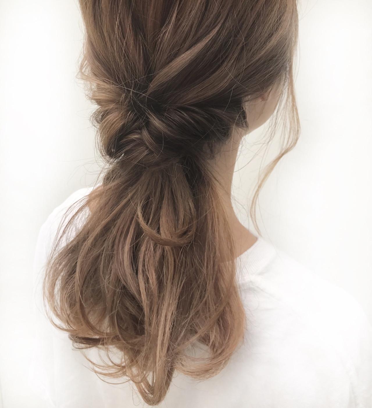オフィス デート フェミニン ヘアアレンジ ヘアスタイルや髪型の写真・画像