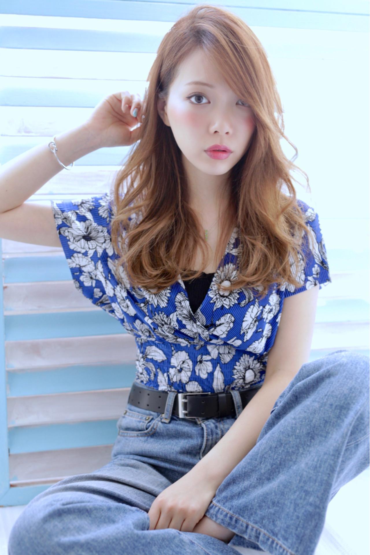 グレージュ 外国人風カラー ネイビーアッシュ ワンカール ヘアスタイルや髪型の写真・画像