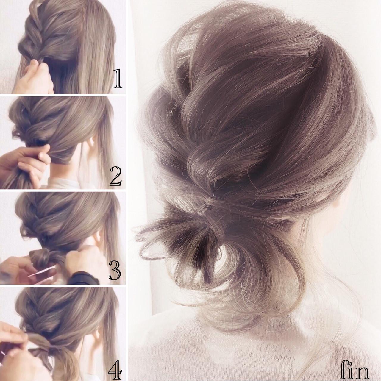 ナチュラル ロング 簡単ヘアアレンジ 女子力 ヘアスタイルや髪型の写真・画像