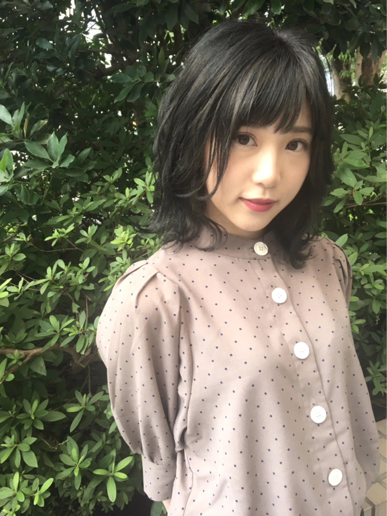 ネイビー グレージュ 女子力 おフェロ ヘアスタイルや髪型の写真・画像