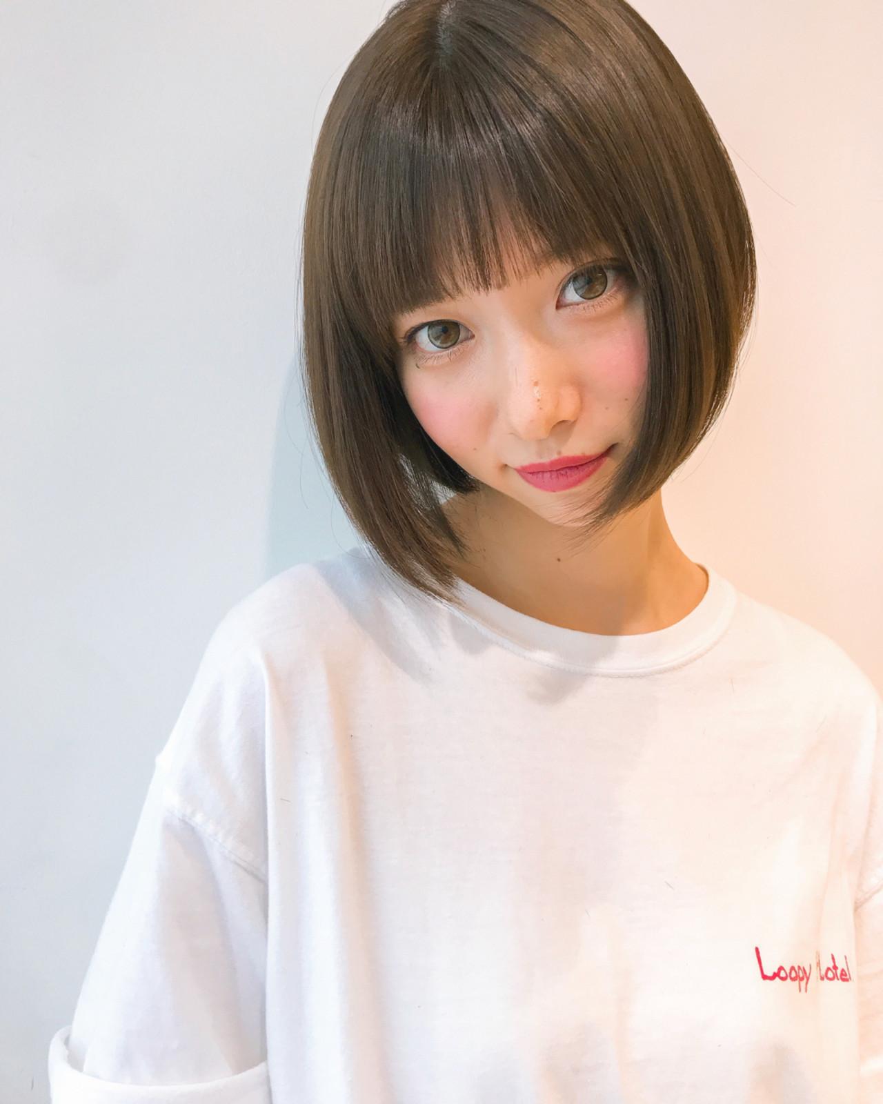 デート 前髪あり 簡単ヘアアレンジ フリンジバング ヘアスタイルや髪型の写真・画像