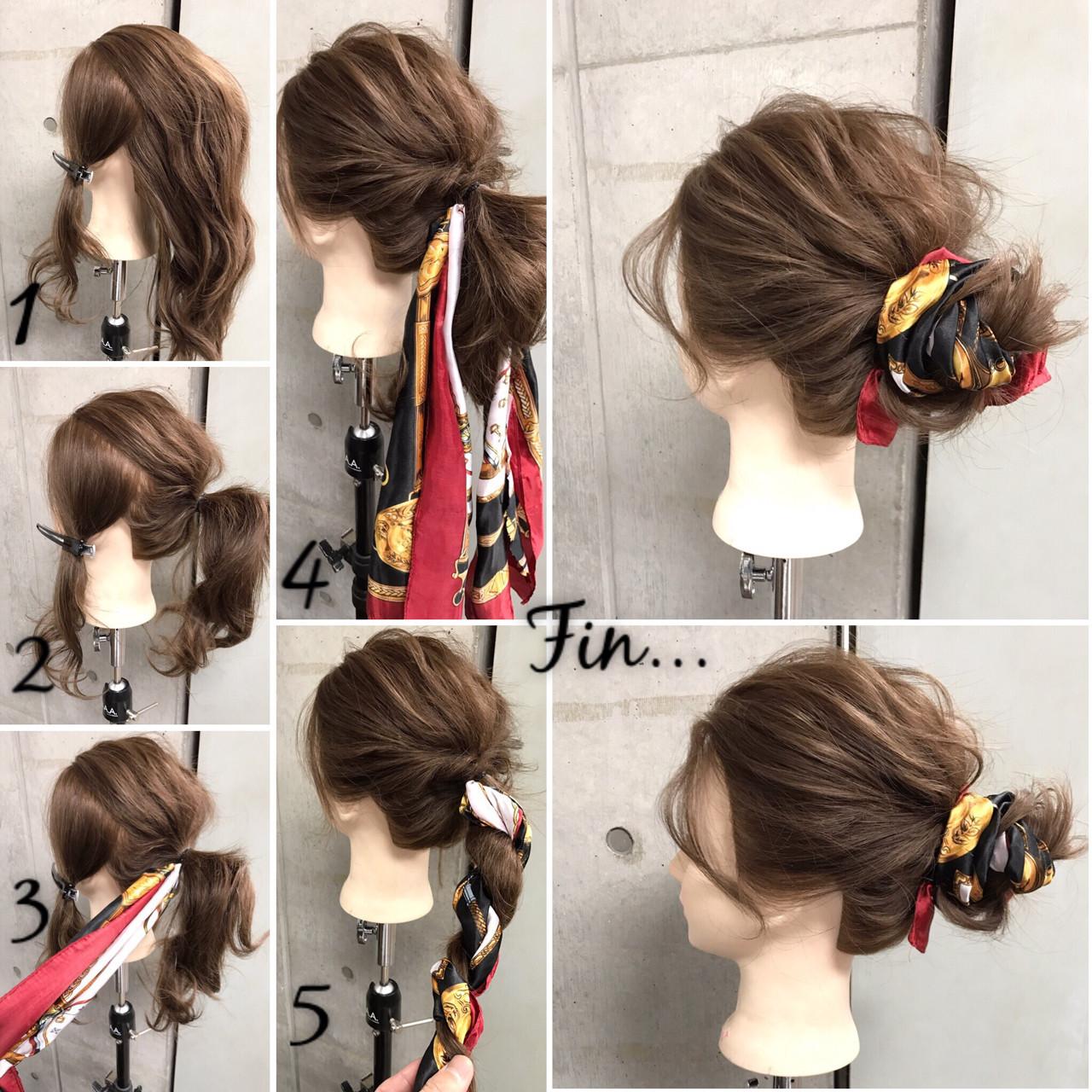 ヘアアレンジ 簡単ヘアアレンジ ナチュラル ヘアアクセ ヘアスタイルや髪型の写真・画像