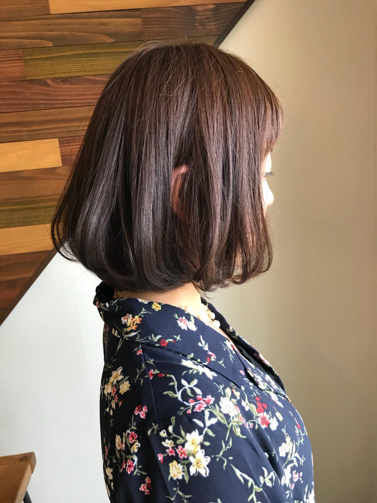 ストンと綺麗なゆる巻きワンカールボブ yukie_horiba  Organic&hair LAU LEA