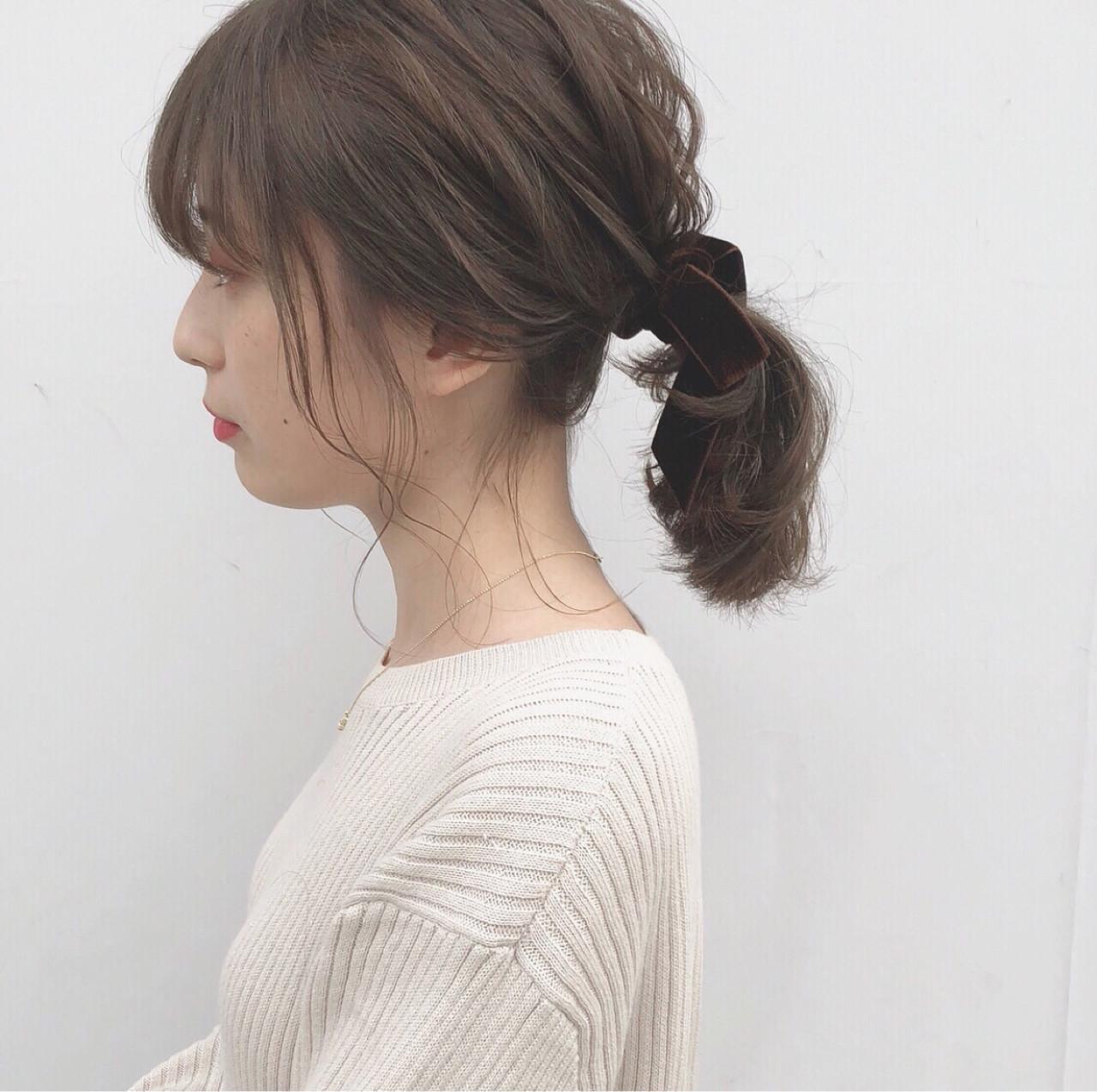 後れ毛がポイント!超簡単ヘアアレンジ hii.de@✂︎