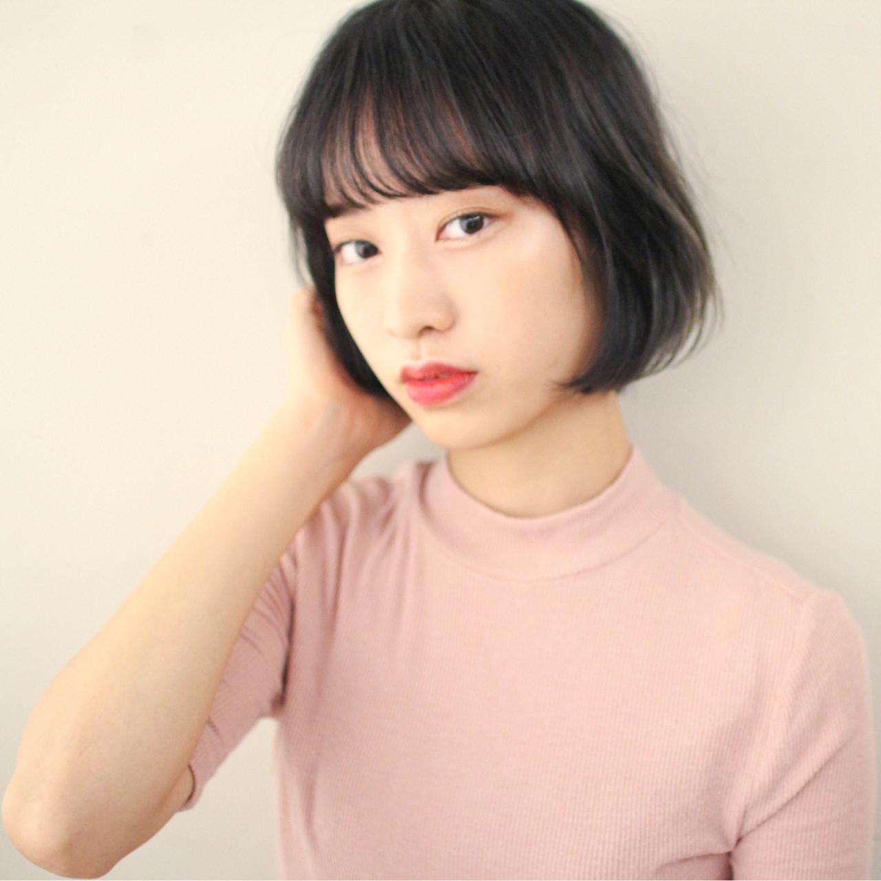 女子力 シースルーバング 簡単ヘアアレンジ デート ヘアスタイルや髪型の写真・画像
