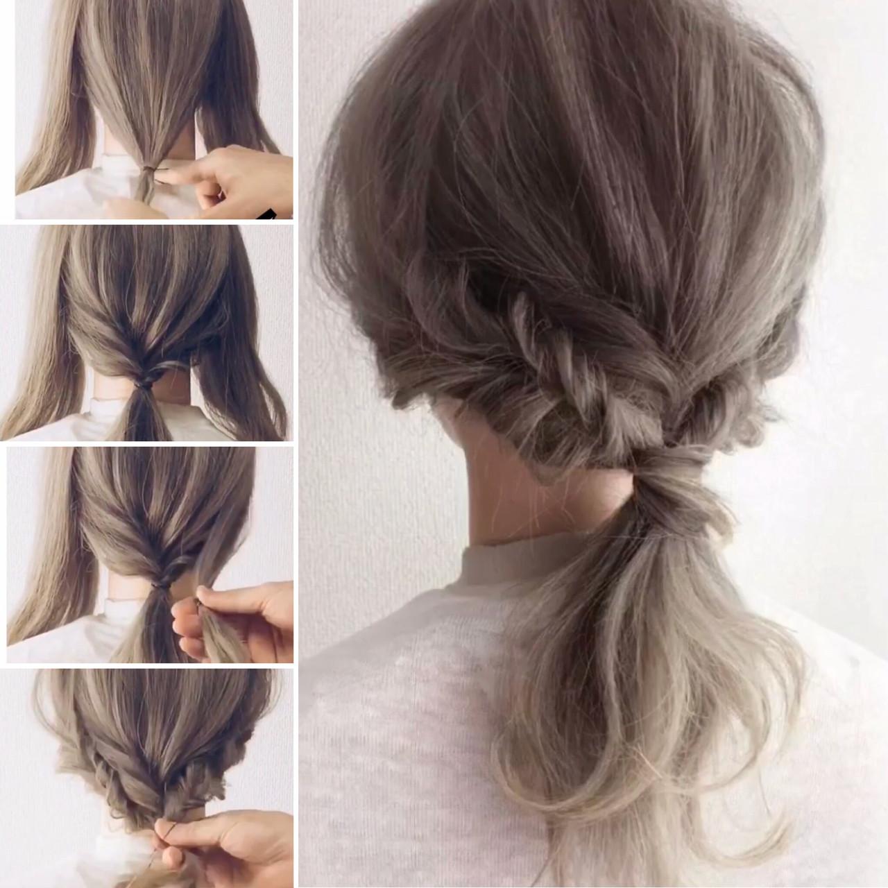 フェミニン ヘアアレンジ ロング 簡単ヘアアレンジ ヘアスタイルや髪型の写真・画像