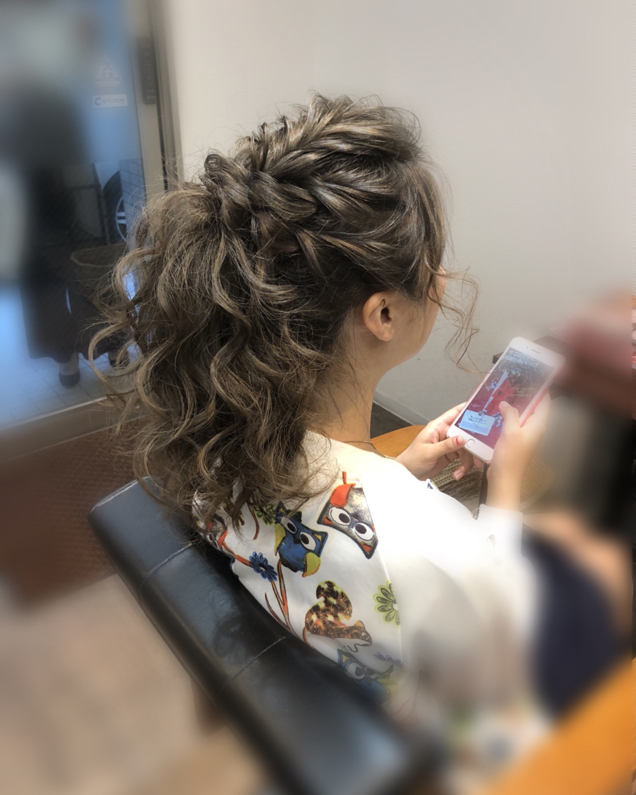 ヘアアレンジ アップスタイル フェミニン ミディアム ヘアスタイルや髪型の写真・画像