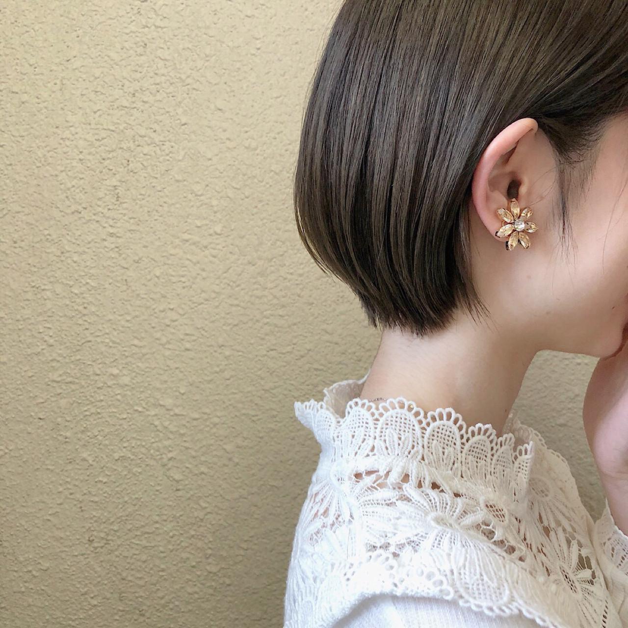 ヘアアレンジ 暗髪 女子力 くすみカラー ヘアスタイルや髪型の写真・画像